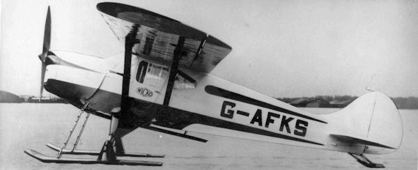 G-AFKS Wicko GM1 on skis