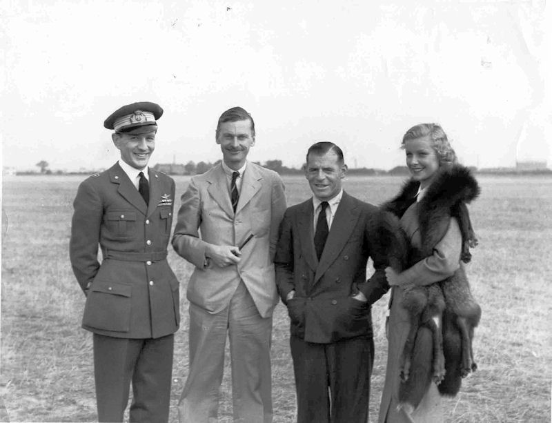 RPG Denman with cast of the Blue Squadron 1934