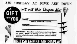 Air Circus British Empire Air Display Coupon
