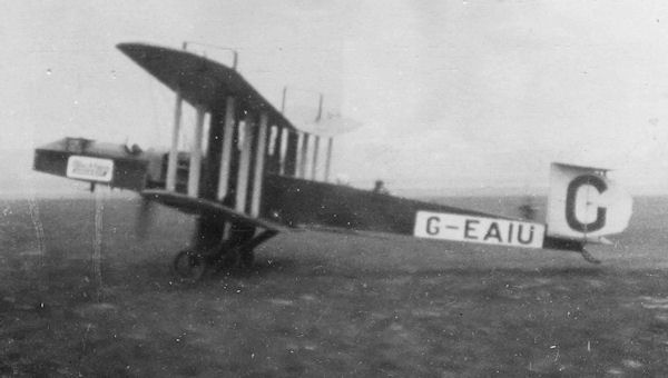 G-EAIU Blackburn Kangaroo Spenser Grey Kings Cup 1922