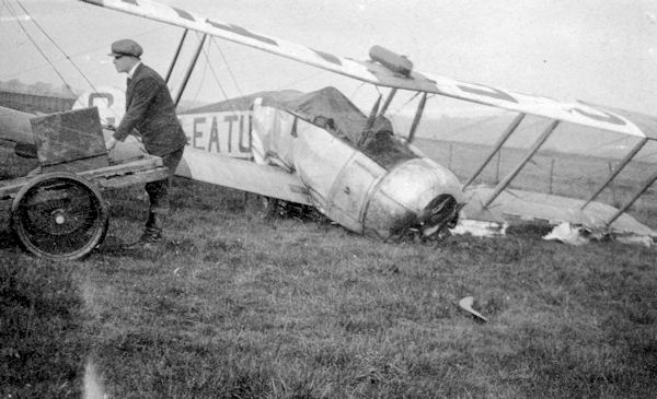 G-EATU Avro 504K crashed 1927 or 1928